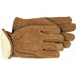 Boss Manufacturing -Men S Pile-Insulated Split Leather Driver Glove-Brown-Medium
