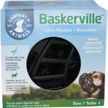 The Company Of Animals - Baskerville Ultra Moldable Muzzle - Black - Size 1