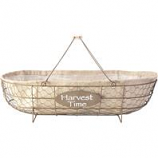 Panacea - Chicken Wire Basket Planter-Rust & Burlap-22 X11