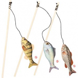 Ethical Cat - Gone Fishin Teaser Wand Cat Toy - Assorted - 15 Inch