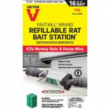 Woodstream Victor Rodent - Rat Bait Station Refillable - 8 Count
