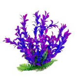 Aquatop Aquatic Supplies - Aquarium Plant With Weighted Base - Pink/Purple - 6 Inch