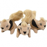 Petstages - Squeakin' Squirrels Hide-A-Squirrel Replacement - Tan - 3 Pack