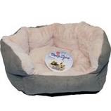 Ethical Fashion-Seasonal - Sleep Zone Reversible Cushion Bed-Sage-18 Inch