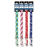 Casual Canine - Patterns Lead Bone - 4Feetx5/8Inch - Blue