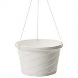 Myers Industries L&Ggroup - Euro Hanging Basket - White - 10 Inch