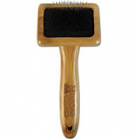 Paws/Alcott - Bamboo Slicker Brush With Stainless Steel Pins-Bamboo-Small