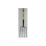 Truper Tools -Tru Pro 4 Tine Manure Fork Long Handle - Steel/Wood - 54 Inch