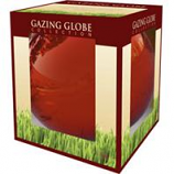 Alpine Corporation - Glass Gazing Globe-Red-10 Inch