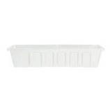 Novelty Mfg -Poly-Pro Flower Planter Liner-White-30 Inch