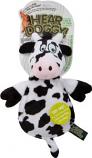 Quaker Pet Group - Hear Doggy Flattie Cow - Black/White - Small