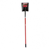 Bond Manufacturing - Square Point Shovel With Fiberglass Handle-Red-58 Inch