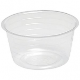 Bond Mfg - Deep Plastic Saucer - Clear - 8 Inch