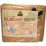 Eaton Brothers Corp. - Leaf Tote Burlap Square-Brown-8 Ft X 8 Ft