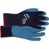 Boss Manufacturing -Frosty Grip Insulated Knit Rubber Palm Glove-Blue-Large