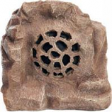 Alpine Corporation - Solar Bluetooth Enabled Rock Speaker-Brown-11 Inch