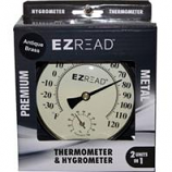 Headwind Consumer - Thermometer Hygrometer Combo-Antique Brass-4 Inch