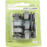 Tru - Test - Patriot Joint Clamps - Silver - 5 Pack