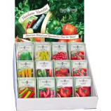 Page Seed - Page'S Premium Heirloom Tomato & Pepper Counter Ds - 250 Pc