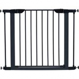 Midwest Homes For Pets - Steel/Wood Pet Gate - Graphite/Wood - 29 H X 29 - 38 W