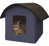 K&H Pet Products - Creative Solutions Kitty Barn Unheated - Blue - 22Inx19Inx17In