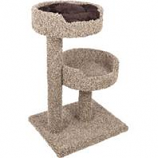 Ware Mfg-  Dog/Cat - 2 Story Perch With Donut Bed-Natural-24Wx30Dx36H
