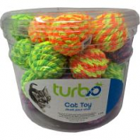 Coastal Pet Products - Turbo Rattle Balls Cat Toy Canister - Multi - 36 Piece