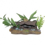 Blue Ribbon Pet Products - Exotic Environments Log Cavern with Plants - Small