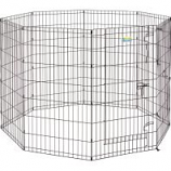 Midwest Container - Contour Exercise Pen With Door - Black - 42 In