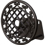 Panacea Products - Trellis & Scroll Cast Alum Hose Hanger - Black - 14X14X13