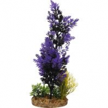 Blue Ribbon Pet Products - Color Burst Florals Brush Plant Cluster - Black/Purple - Large