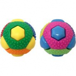 Multipet International - Theo Ball With 8 Squeakers - Asst - 3 Inch