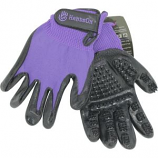 Hands On Equine - Handson Grooming And Bathing Gloves - Purple - XLarge