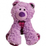 SnugArooz - Snugz Bella The Bear - Purple/Plaid - 11 Inch