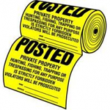 Hy - Ko roducts - osted  roerty Sign - Yellow/Black - 100 c Roll