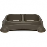 Gardner Pet Group - Double Diner Dish - Taupe Gray - Med 2 - 3/4 Cup