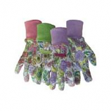 Boss Manufacturing -Ladies Floral Cotton Glove With Knit Wrist-Assorted-One Size