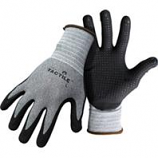 Boss Manufacturing -Boss Tactile Dotted Dipped Nitrile Palm Glove-Black/Gray-Large