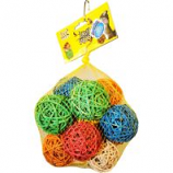 A&E Cage Company - Happy Beaks Wooden Pear Bird Toy - Multi - Large
