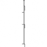 Panacea Products - Multi-Purpose Grid Fence Latch Post Stake - Black - 36 Inch
