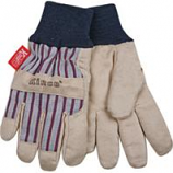 Kinco International-Lined Ultra Suede Knit Wrist Glove-Gray/Blue/Red-Youth