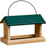 Welliver Outdoors - Open Air Feeder Cedar-Natural/Green-13.5X7.5X9.5