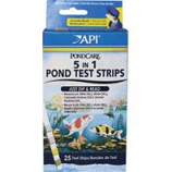 Mars Fishcare Pond - Pondcare 5 In 1 Pond Test Strips - 25 Pack
