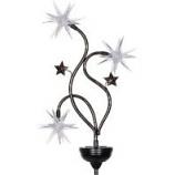 Exhart - Solar Patriotic Triple Starburst Garden Stake - Red/White/Blue - 33 Inch