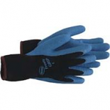 Boss Manufacturing -Frosty Grip Insulated Knit Rubber Palm Glove-Blue-Medium