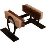 Newport Blacksmith Shop - Horseshoe Boot Scraper With Brushes - Black