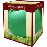 Alpine Corporation - Glass Gazing Globe-Green-10 Inch