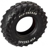 Ethical Dog - Pup Treads Rubber Tire - Black - 4In