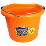Fortex Industries - Fb-108 Flat Back Bucket - Orange - 8 Quart