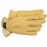 Boss Manufacturing -Therm Premium Insulated Deerskin Driver Glove-Tan-Extra Large